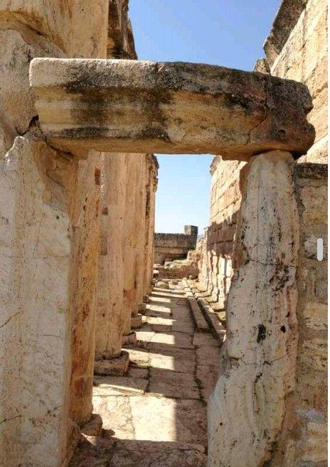 Latrines-Hierapolis ancient city-Pamukkale-Denizli