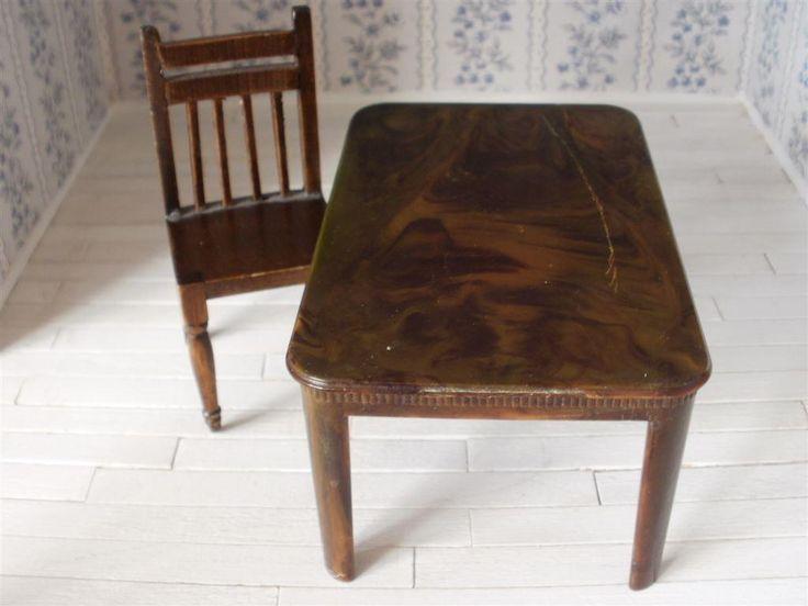 Dockskåps bord och stol Lundby skalan samlarsak