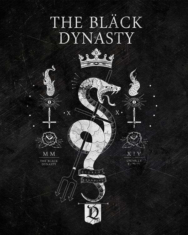 The Black Dynasty by El Diablo #graphic #design #bw