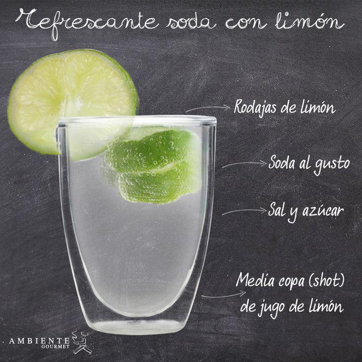 Sencilla y deliciosa, así se prepara esta #soda