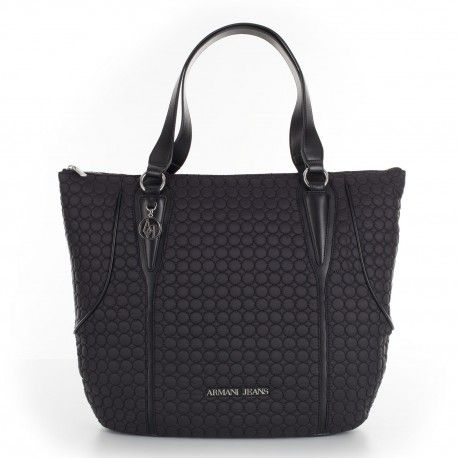 Armani Jeans Black Shopping Bag