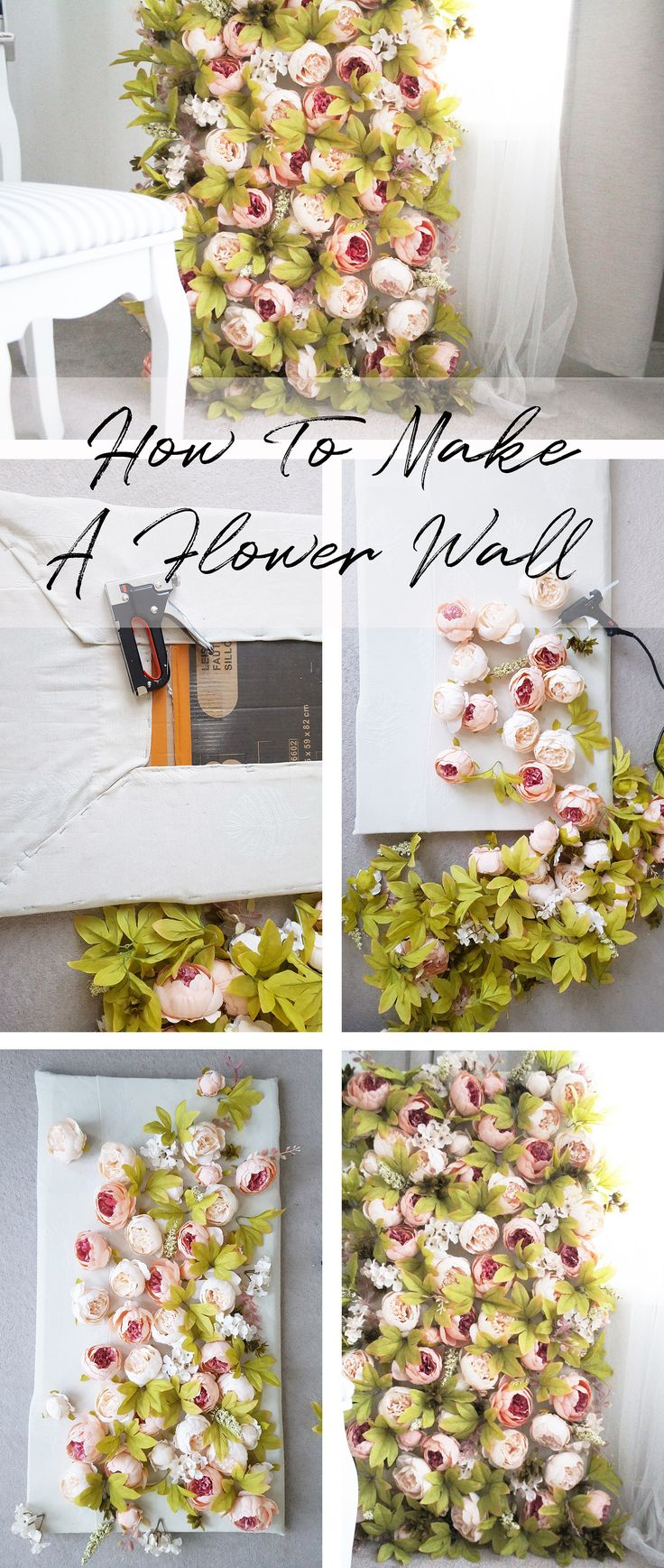 HOW TO MAKE A FLOWERWALL DIY #diy #howtos #diyflowerwall flowerwall #pinkflowers #pinkpeonies #weddingdecor #weddings #weddinginspo #interiors #interiorinspo #homedecor #homeinspo #decorations #decor #weddingdecorations