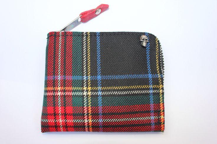 Portafoglio unisex #scozzese #stoffa