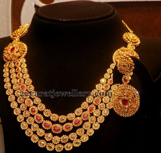 Jewellery Designs: Multi Layers Uncut Jewelry by MGD