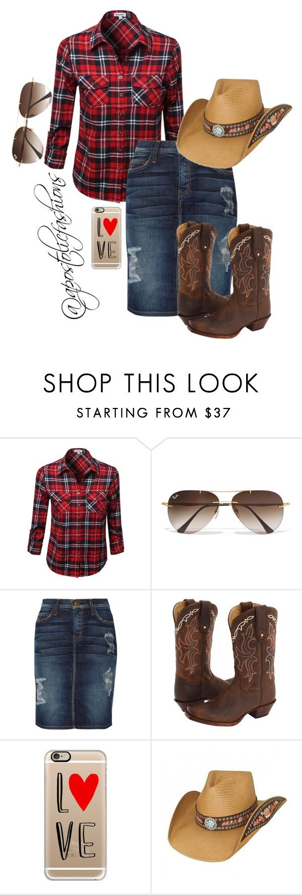 """Apostolic Fashions #1104"" by apostolicfashions ❤ liked on Polyvore featuring Ray-Ban, Current/Elliott, Tony Lama, Casetify, women's clothing, women, female, woman, misses and juniors"