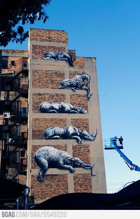 Awesome street art in Johannesburg, South Africa