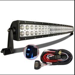 MICTUNING 50″ 288w Curved LED Light Bar Flood Spot Combo Beam w/Blue Laser Rocker Switch Wiring Harness