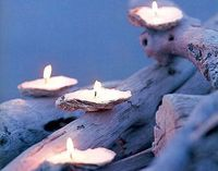 Oyster candles-- interesting. and tons of other candle/craft ideas!