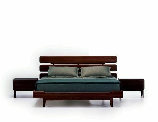 Currant Cal King Platform Bed - Black Walnut