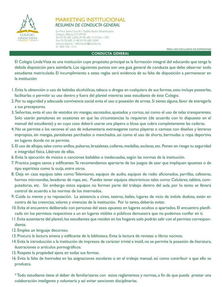 Reglamento general para estudiantes de Nivel Medio (secundaria y preparatoria)