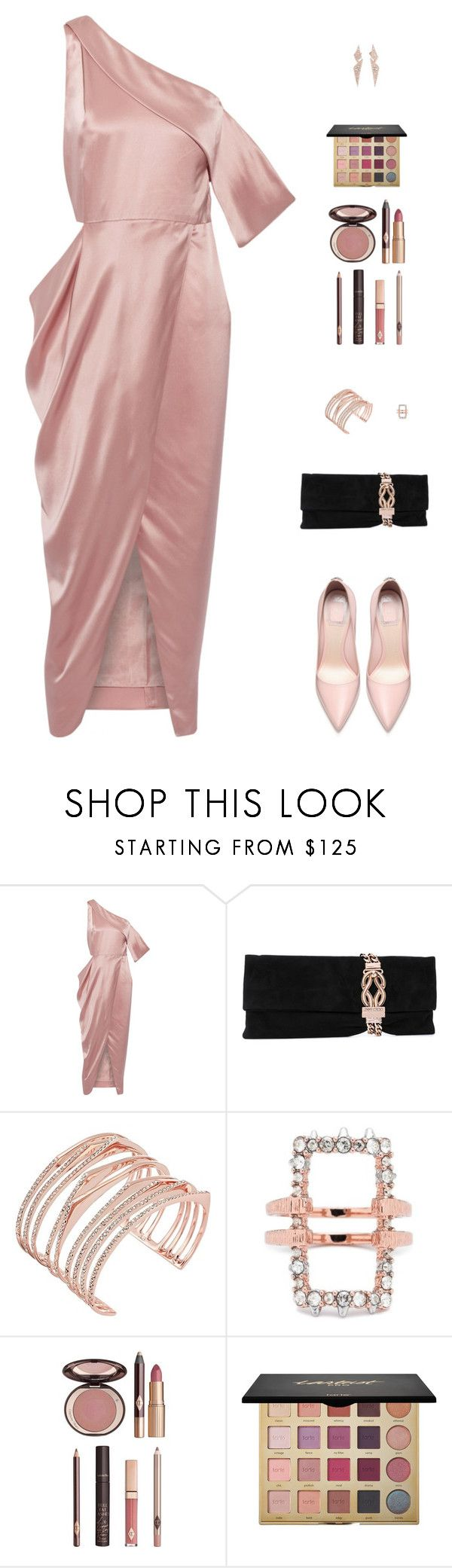 """""""Untitled #5011"""" by mdmsb on Polyvore featuring Michelle Mason, Jimmy Choo, Alexis Bittar, Charlotte Tilbury and tarte"""