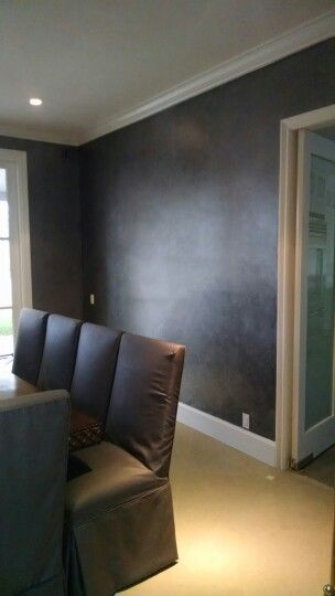 Faux finish/ charcoal walls by Ericco Studio.