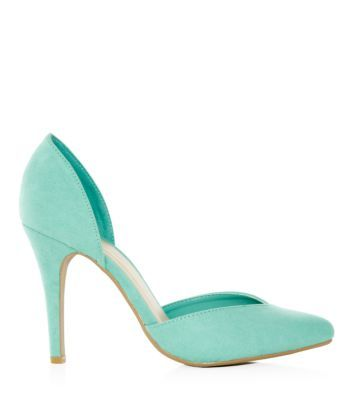 Mint Green Two Part Pointed Court Shoes