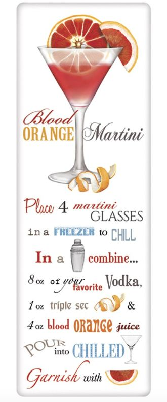 Mary Lake-Thompson Blood Orange Martini Recipe Towel