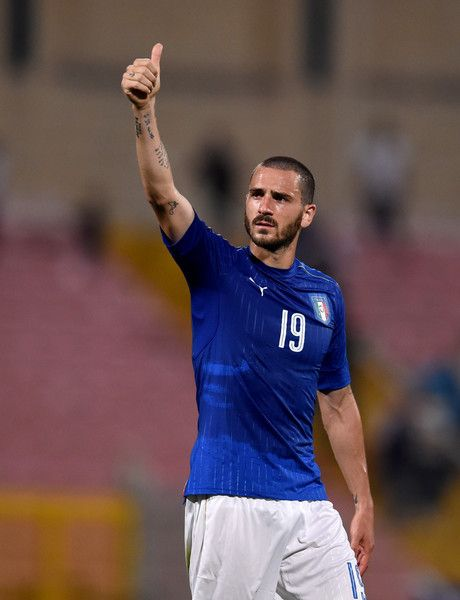Leonardo Bonucci of Italy at the end of the international friendly between Italy and Scotland on May 29, 2016 in Malta, Malta.