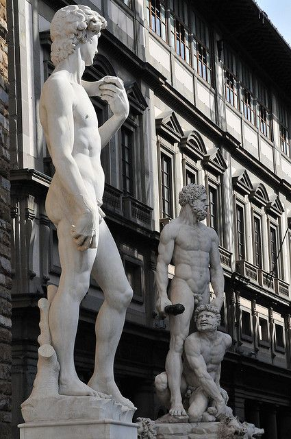 Palazzo Vecchio Entrance Statues, Florence, Italy