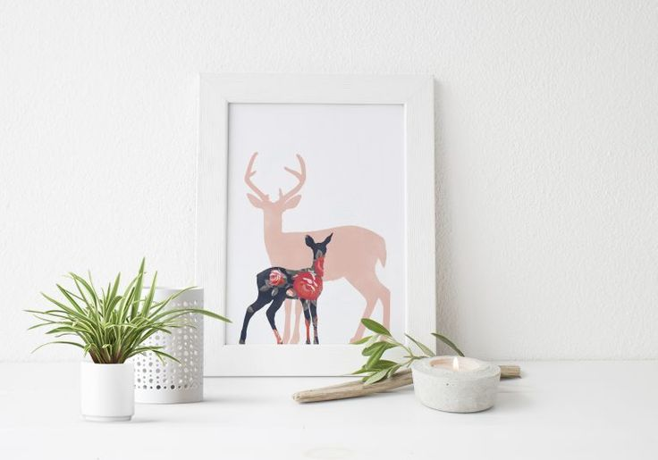 Free Rustic Woodland Deer Print from Little Paper Sparrow!