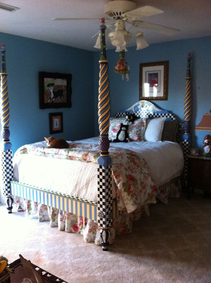 Mackenzie Childs Inspired Bed Painted Bedroom Furniture