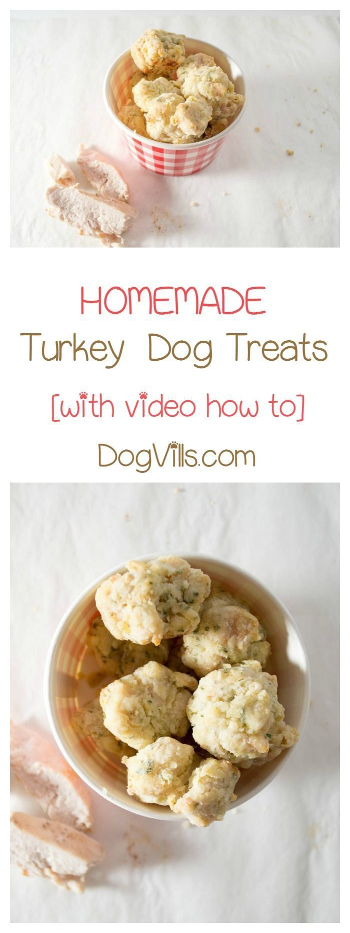 Looking for fun Thanksgiving food for dogs? Check out this yummy turkey homemade dog treat!
