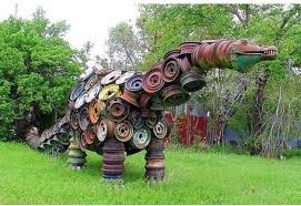 37 best images about tire and wheel upcycling on pinterest for Used tire yard art