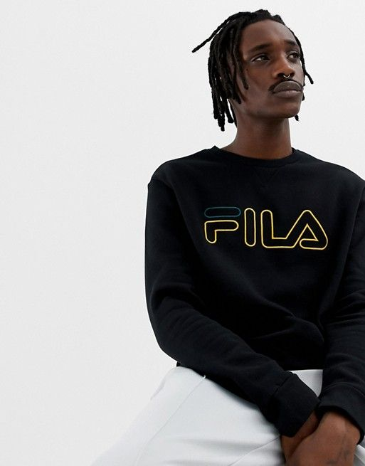 394004d6 Fila Black Line Basil Sweatshirt With Logo In Black | Brands ...