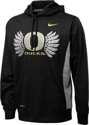 Oregon Ducks Black Nike Wings Hooded Sweatshirt
