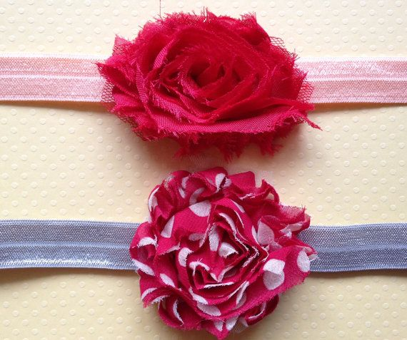 Toddler Little Miss Red Headband Set by BooLouBaby on Etsy