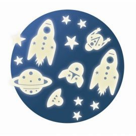 Djeco Leuchtsterne Glow in the Dark Space Mission Set, 8,95 €, S