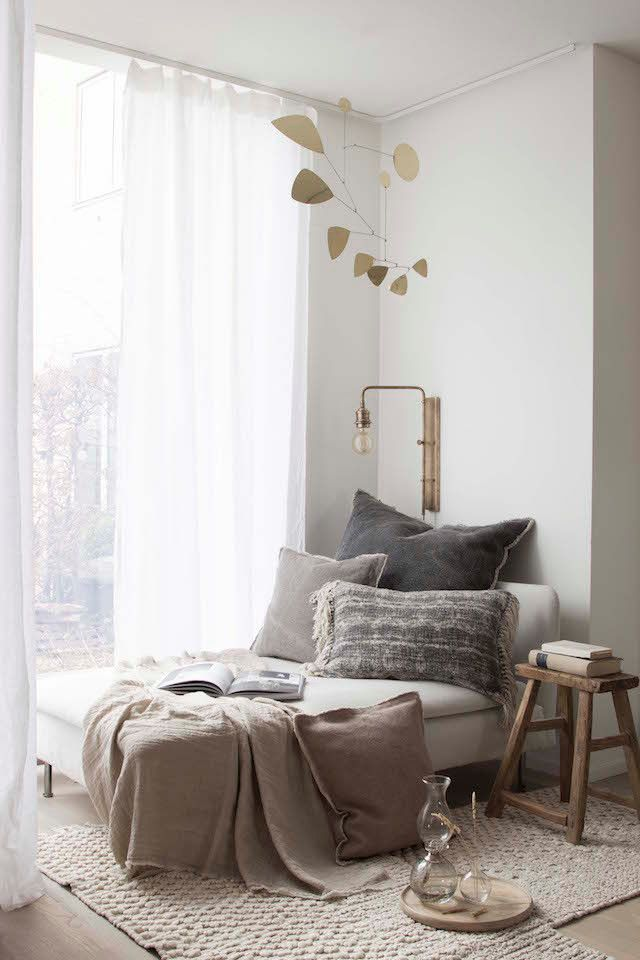 super cozy, neutral nook
