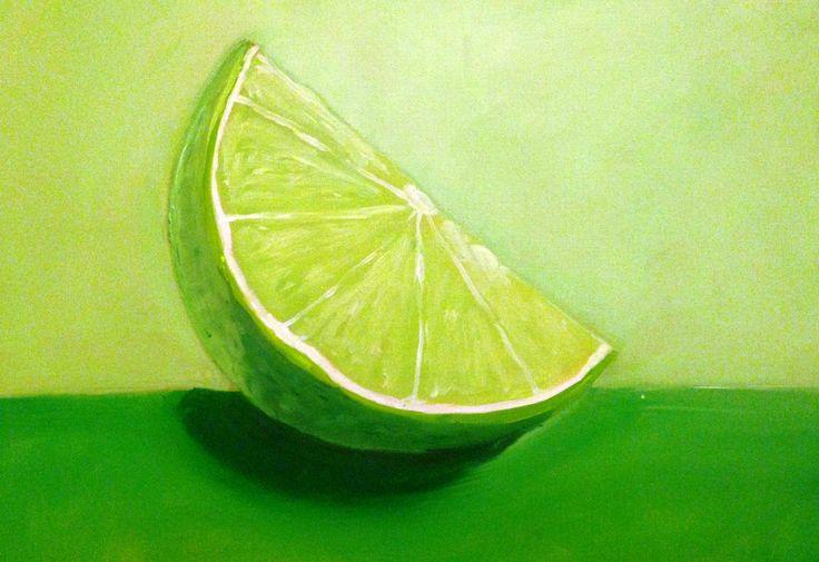 Green oil on canvas #illo52weeks