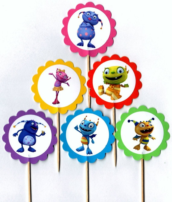 Henry Hugglemonster Set of 12 Cupcake Toppers by PartyBees on Etsy, $9.00