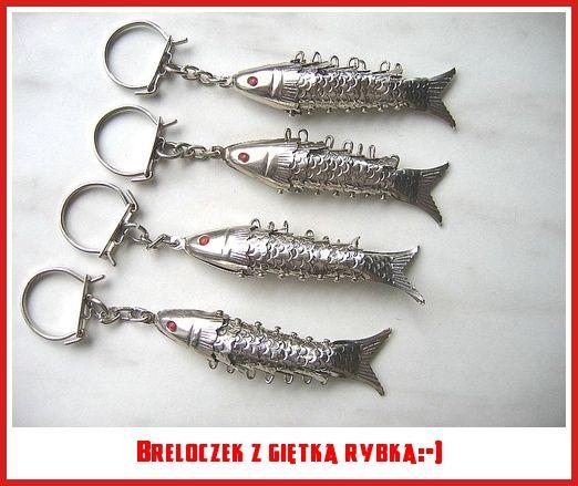 Breloczek z giętką rybką:-)