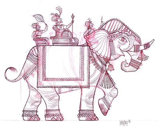 Sanjay Patel art elephant