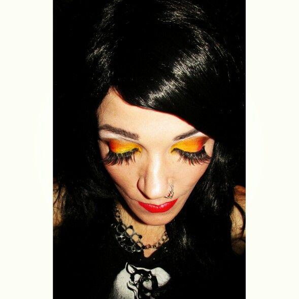 """Alternative makeup- """"Flame"""""""