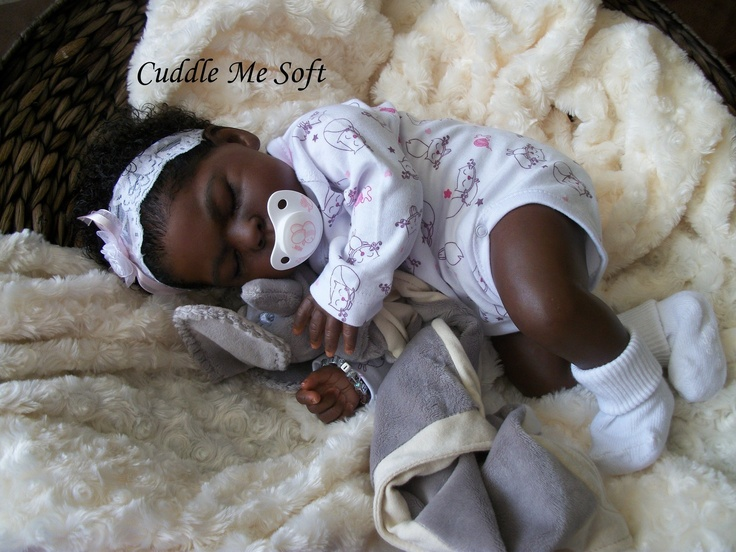 Ethnic Reborn Baby Girl  Lee Hand  ~ some dark chocolate babies are yummy