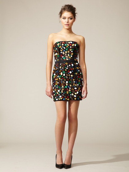 Dolce & Gabbana   Rhinestone Cocktail Dress
