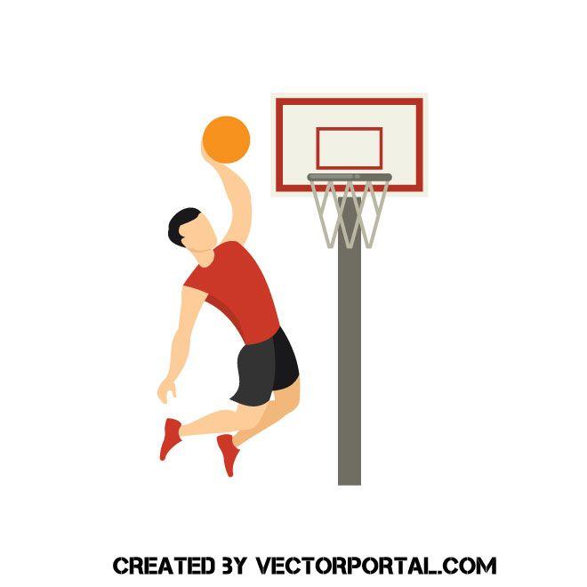 Man Playing Basketball Vector Image Basketball Videos Basketball Anime Basketball Memes