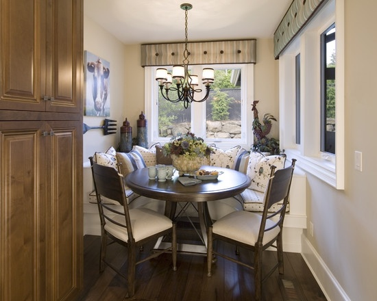 Giant Fork French Country Breakfast Nook Design