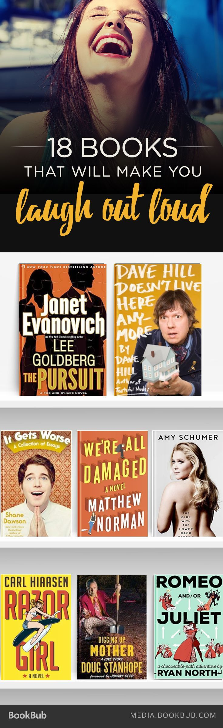 Check out these 18 books that are sure to make you laugh out loud.