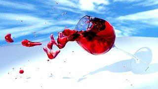 포도주, 와인 글라스, 3D, 믹서 기