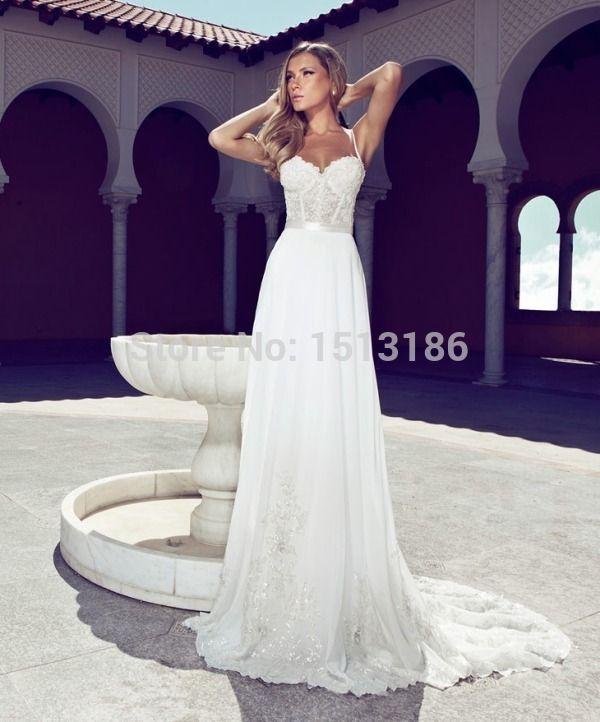 Джули вино спагетти ремни топ свадебные платья тонкий линии шифоновое аппликация суд поезд свадебные платья XY107 купить на AliExpress