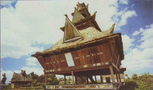 Traditional Lingga House in Berastagi