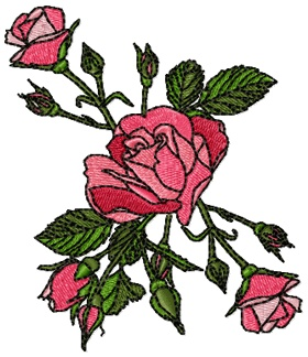 """Valentine Roses for 4""""x4""""  #machine embroidery design #roses #free machine embroidery designs"""