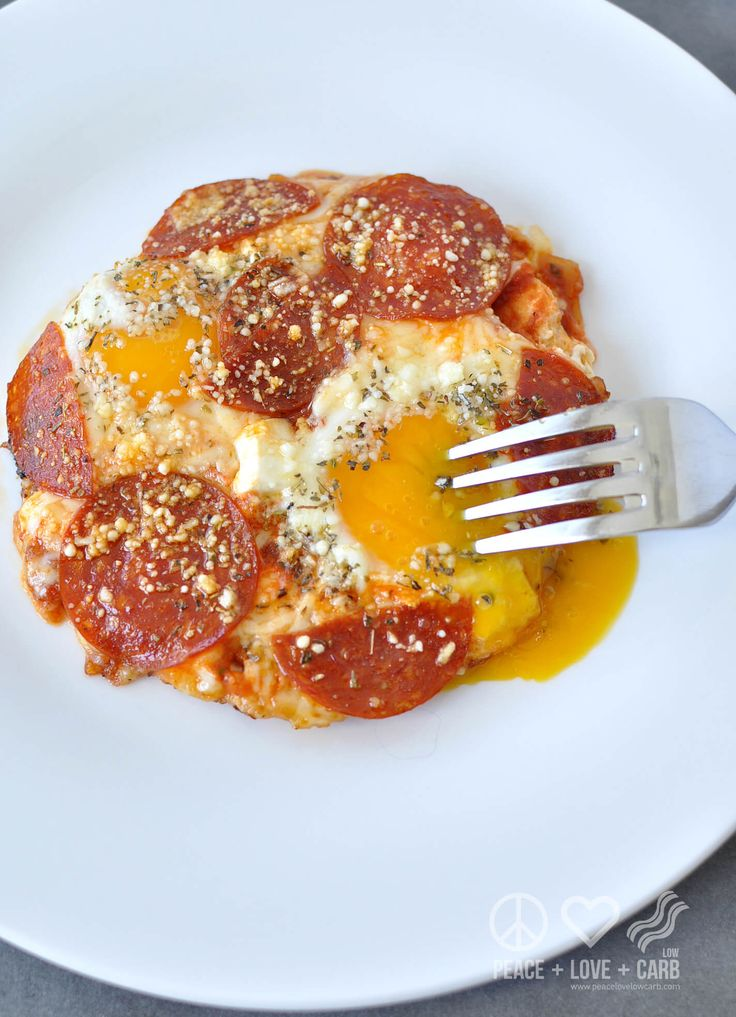 Pizza Eggs - low carb, keto, gluten_free : Peace Love and kow Carb