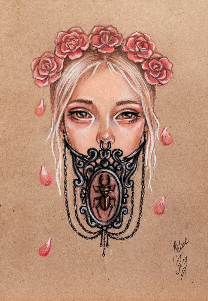 Girl and beetle by BlackFurya.deviantart.com on @deviantART