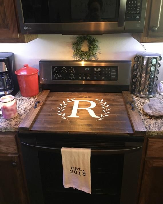 Double Check Your Stove Top Size Prior To Ordering Our Size Is Based Off Of The Average Standard Stove Top Co Kitchen Tray Stove Cover Farmhouse Style Kitchen
