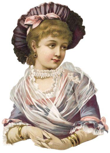 Girl in lavender scrap
