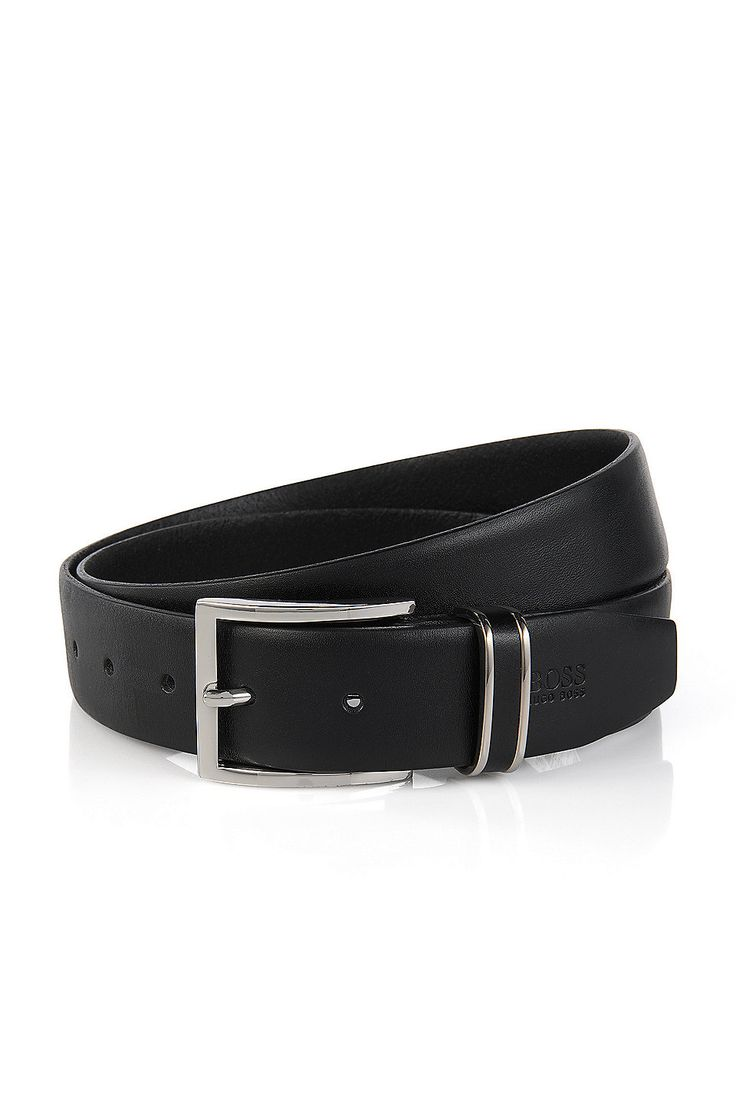 'FROPPIN'   Leather Belt  Black from BOSS for Men for $135.00 in the official HUGO BOSS Online Store free shipping