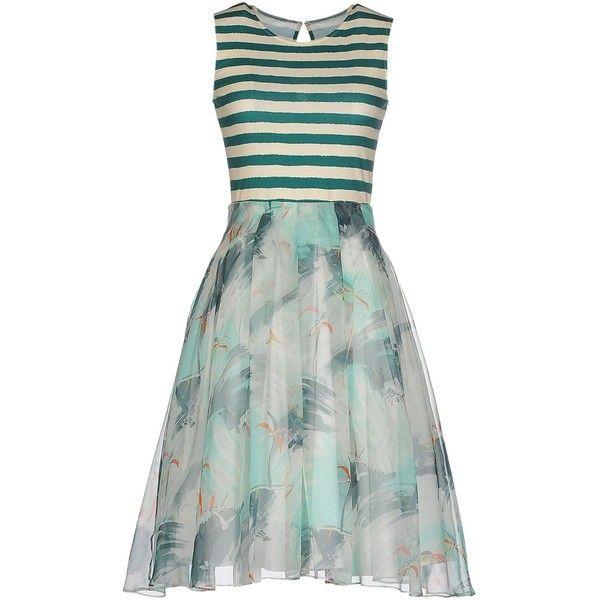 Eggs Short Dress ($285) ❤ liked on Polyvore featuring dresses, green, short dresses, zipper dress, stretch dress, pocket dress and short green dress