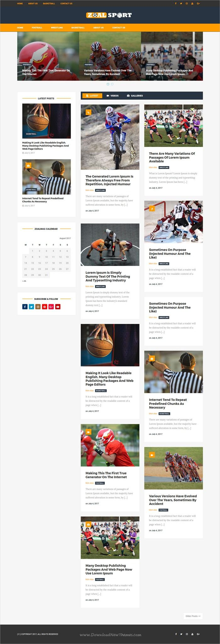 Zoal Mag is clean and modern design responsive #WordPress theme for #sports #News, #blog and magazine website with 10 niche homepage layouts download now..